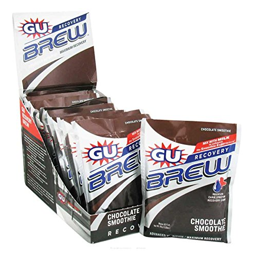 GU Brew Recovery - 12 Pack Chocolate Smoothie, One Size - Men's