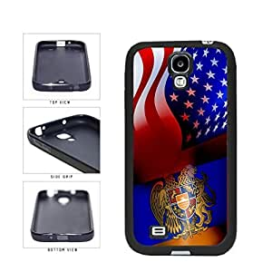 Armenia and USA Mixed Flag TPU RUBBER SILICONE Phone Case Back Cover Samsung Galaxy S4 I9500