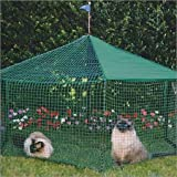 Kittywalk Gazebo Yard and Garden Outdoor Cat Enclosure Green