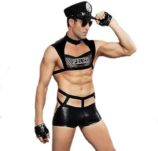 LCWORD Uniformes De Policía De Los Hombres Disfraz De Halloween Disfraz De Hombre: Amazon.es: Hogar