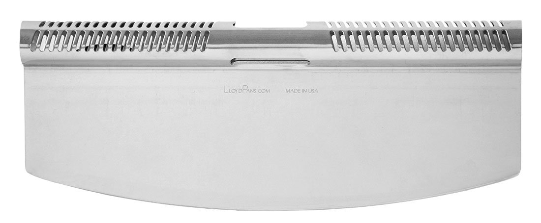 LloydPans 14 inch Pizza Rocker Cutter Knife, Stainless Steel, Commercial Pizza Cutter