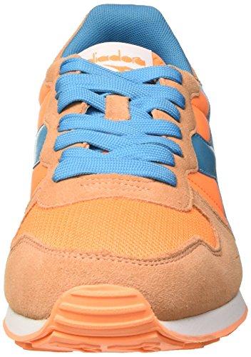 Diadora Camaro, Sandalias con Plataforma Unisex Adulto, 36 EU Naranja / Azul