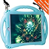"""TopEsct iPad 9.7"""" 2018/2017 Kids Case,iPad Air Case, Soft Silicone Childproof Handle Stand Case for iPad 5th Gen(2017),iPad 6th Gen(2018) And iPad Air(2013) (2017/2018 iPad 9.7, iPad Air1, Sky Blue)"""