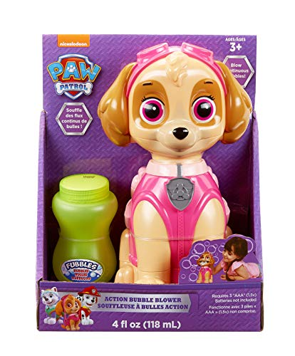 Little Kids Paw Patrol Skye Action Bubble Blower and Includes Bubble ()