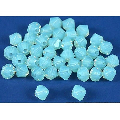 40 Pacific Opal Bicone Swarovski Crystal Beads 5301 4mm