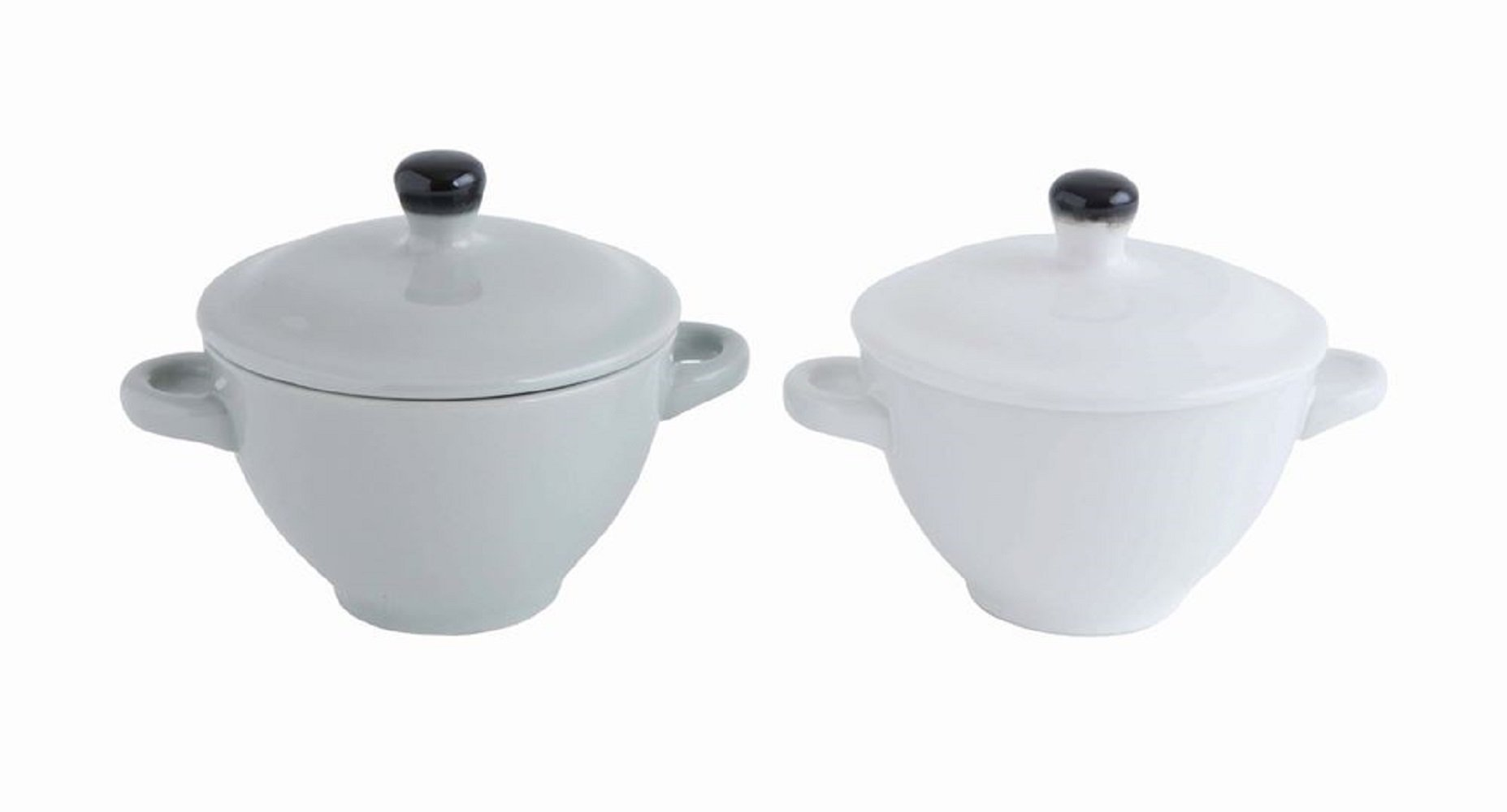Creative Co-Op Set Of 2 Stoneware Mini Bakers 5'' Round x 5''H Perfect For French Onion Soup Or as a Dip Bowl