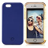 iPhone 6 Plus Case, Elftear LED Light Up Luminous Selfie Cell Phone Case Illuminated Back Cover for Apple iPhone 6S Plus iPhone 6 Plus (Deep Blue)