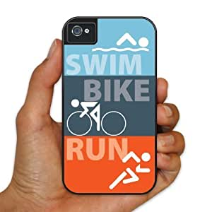 iPhone 4/4s BruteBoxTM Case - Triathlon - Swim, Bike, Run - 2 Part Rubber and Plastic Protective Case hjbrhga1544