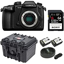 "Panasonic GH5 Lumix 4K Mirrorless, 20.3 MP, Wi-Fi + Bluetooth,3.2"" LCD w/Sony 64GB SF-G Series UHS-II & Hard Case Bundle"