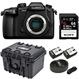 Cheap Panasonic GH5 Lumix 4K Mirrorless, 20.3 MP, Wi-Fi + Bluetooth,3.2″ LCD w/Sony 64GB SF-G Series UHS-II & Hard Case Bundle
