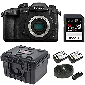Panasonic GH5 Lumix 4K Mirrorless , 20.3 MP, Wi-Fi + BT,3.2