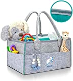 Premium Diaper Caddy Organizer | Strong Portable Nursery Storage Bin for Baby Essentials, Wipes, Toys | Kids Car Organizer | Baby Shower Gift for Girl,Boy | Newborn Registry Must Have by Bluebell Bebe