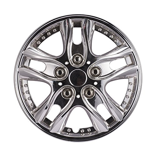 "13 Inch Performance Wheel Cover Car Vehicle Chrome Wheel Rim Skin Cover 13"" Hubcap Wheel cover (Pack of 4)"
