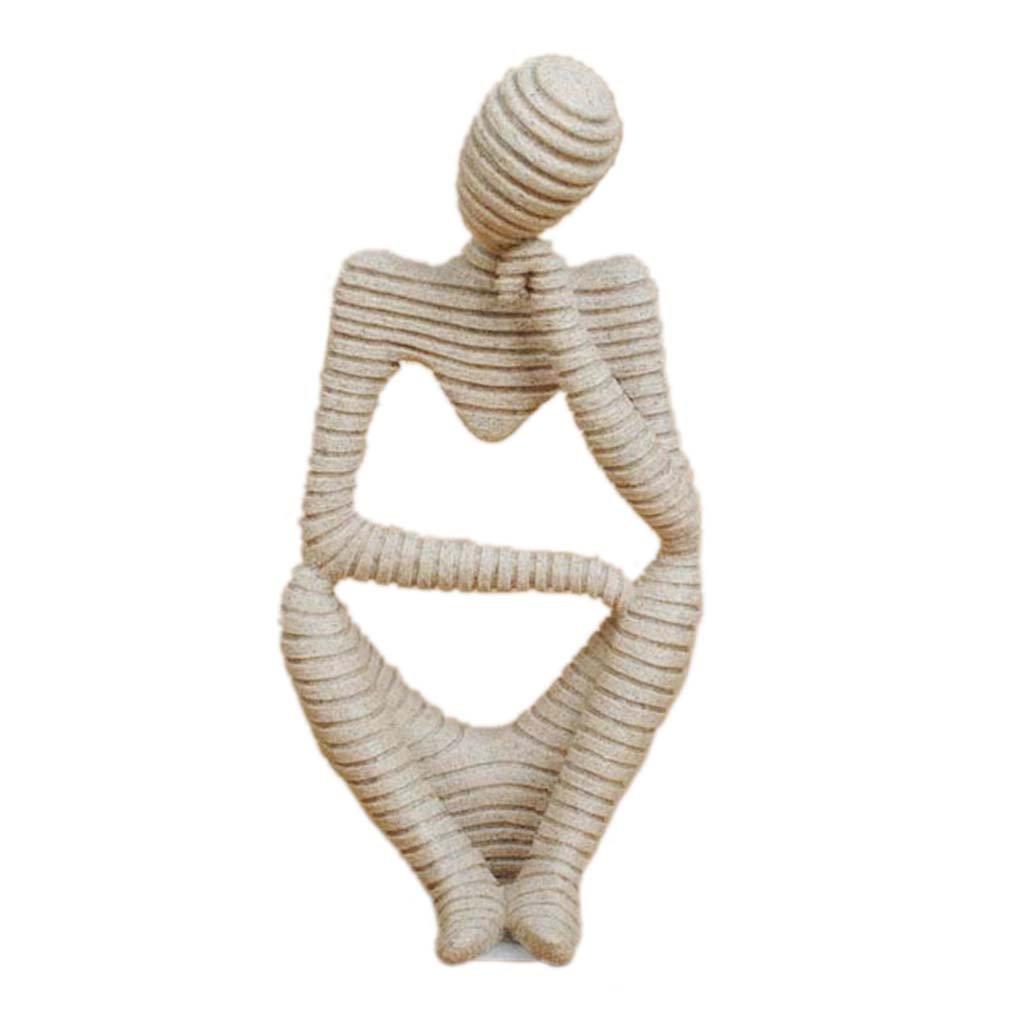 Arenaria Mano Astratta Scultura Statua Scolpita Decorazione Figurine Casa Pensatore Generic