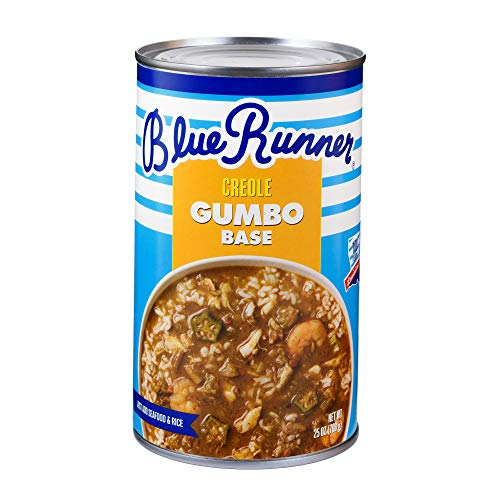 Blue Runner—Creole Seafood Gumbo Base—25 Ounce Can (Pack of 6)—A Rich, Flavorful and Authentic Creole Classic—An Instant Meal, Just Add Meat
