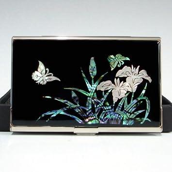 Visitenkartenetui Luxus Design Metall Schwarz Edelstahl
