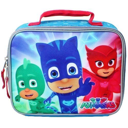 PJ MASKS GECKO, CATBOY & OWLETTE Boys Lead-Free Insulated Lunch Tote Box