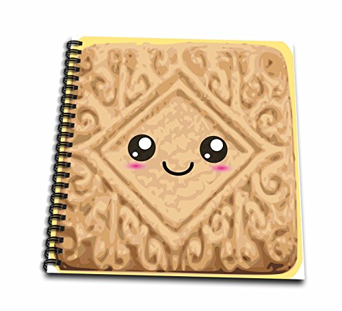 Free Custard Cream - 3dRose db_57446_1 Kawaii Happy Vanilla Custard Cream Cookie Cute Smiley Foods Creamy Cartoon Anime Biscuit Drawing Book, 8 by 8-Inch