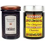 Luxardo Maraschino (400g) & Woodford Reserve (311g) Bourbon Gourmet Cherries