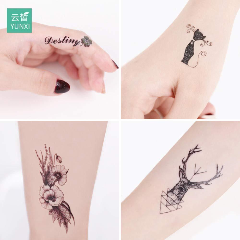 60 pegatinas de tatuajes para hombres y mujeres impermeables ins ...
