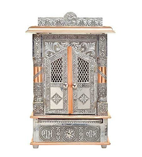 Movie Time Vdieo 59069-DS Hindu Puja Mandir/Temple/Alter, Aluminum Plated with Doors by Movie Time Vdieo