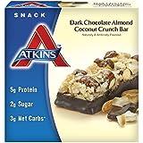 Atkins Snack Bars, Dark Chocolate Almond Coconut Crunch, 1.4 oz. Bars, 5 Count