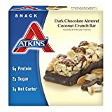 #9: Atkins Snack Bars, Dark Chocolate Almond Coconut Crunch, 1.4 Ounce, 5 Count