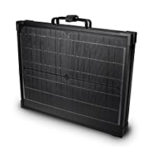 Nature Power 55702 120W Portable Monocrystalline Solar Panel for 12V Charging in Briefcase Design