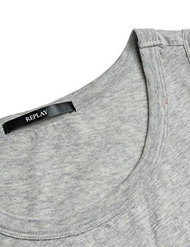 REPLAY W3720a.000.20760p, Camiseta sin Mangas para Mujer Gris (Grey Melange)