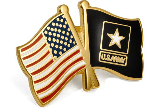USA Army Flags Lapel Pin