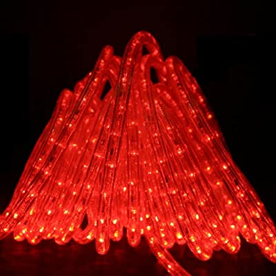Direct-Lighting 50ft Super Bright Heavy Duty Red Rope Lights with 600 LEDs - Expandable to 200 Ft.