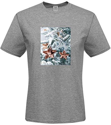 DIY mens Christmas tree T-shirts,custom cotton Tshirt