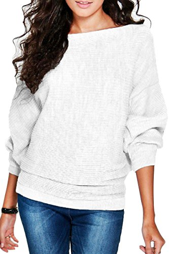 Haloon Womens Casual T Shirt Pullover 3 4 Sleeve Shirt Tops Round Neck Knit Sweater