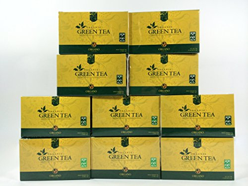 10 Box of Organo Gold 100% Certified Ganoderma Gourmet - Gourmet Green tea (25 sachets) by Organo Gold
