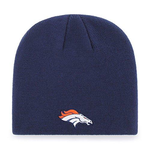 (NFL Denver Broncos Men's OTS Beanie Knit Cap, Team Color, One Size)