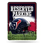 NFL Houston Texans 8-Inch by 11-Inch Metal Parking Sign Décor