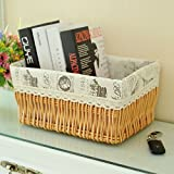 storage basket/ rattan storage box/Desktop snack debris basket in the kitchen-H 27x17cm(11x7inch)