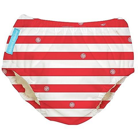 Charlie Banana Extraordinary Swim Diaper, Red Stripes, X-Large