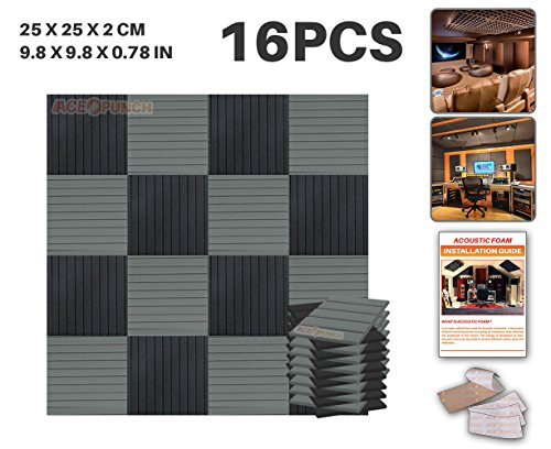 ace-punch-16-pack-black-and-gray-color-combination-flat-wedge-acoustic-foam-panel-diy-design-studio-