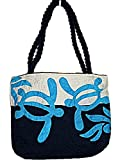 HAWAIIAN HONU TURTLE QUILTED PUALANI BAG PURSE -BLUE