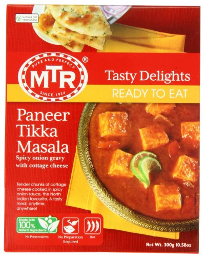 MTR Paneer Tikka Masala, Ready-To-Eat, 10.58-Ounce Boxes (Pack of 5) by MTR