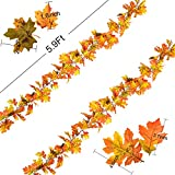 DearHouse 2 Pack Artificial Maple Leaf