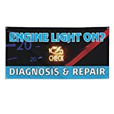 Engine Light On? Check Diagnosis & Repair #1 Outdoor Fence Sign Vinyl Windproof Mesh Banner With Grommets - 2ftx3ft, 4 Grommets