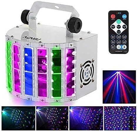 Mini Luz de Escenario,Lixada 24W RGBW Luz de Discoteca,7 Canales ...