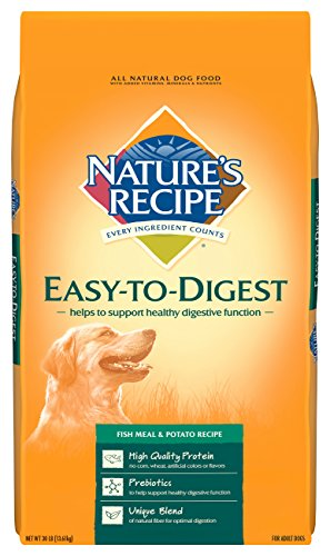 Nature's Recipe Easy to Digest Dry Dog Food, Fish Meal & Potato Recipe, 30-Pound