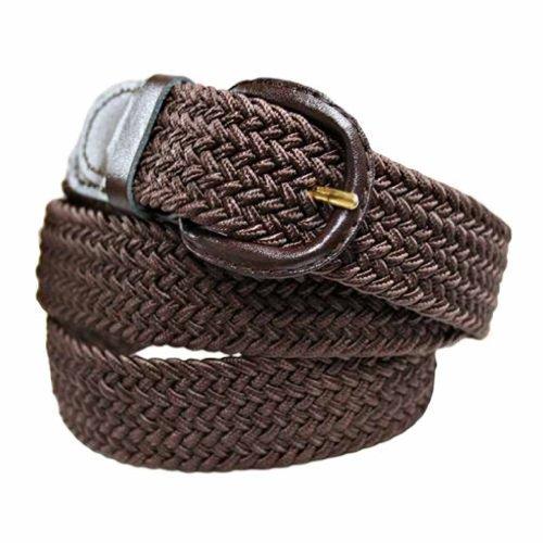 Luxury Divas Brown Braided Elastic Stretch Belt