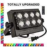 RGB LED Flood Light Color Changing Exterior Light Dimmable Outdoor Lamp, Remote Control Floodlight with Memory Function, IP65 Waterproof, 3000lm Bright Security Light, Decorative Party Stage Lights
