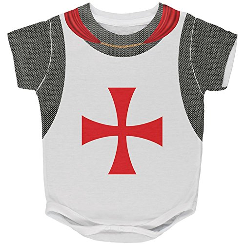 (Old Glory Halloween Knights Templar Armor Costume All Over Baby One Piece Multi 6)