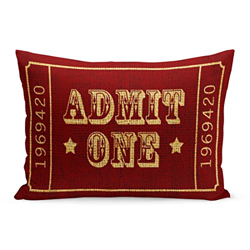 Aikul Throw Pillow Covers Red Americana Circus Theatre for sale  Delivered anywhere in Canada