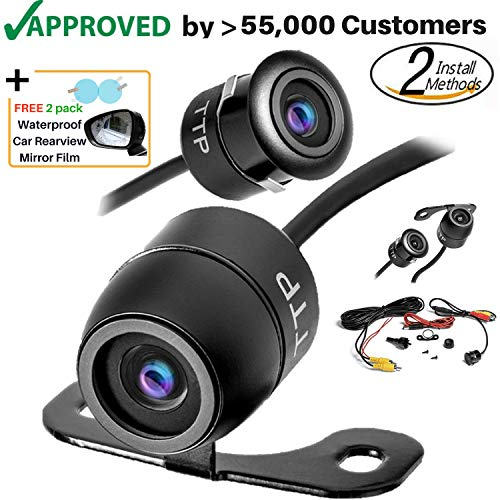 Upgraded Mini Backup Camera 170° Viewing Angle Multi-Function Car Reversing Rear View/Side View/Front View & Security Pinhole Spy Camera (TTP-C12B) For Sale